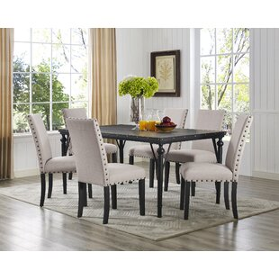 dining room sets with fabric chairs. Save to Idea Board 7 Piece Kitchen  Dining Room Sets You ll Love Wayfair