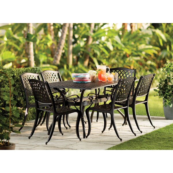 Iron Patio Table And Chairs Part - 25: Castle Heights 7 Piece Dining Set