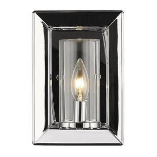 Thorne Modern 1-Light Glass Shade Wall Sconce by Three Posts