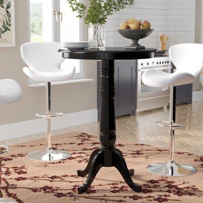 """Bernadette Pub Table Tabletop Size: 42"""" H x 30"""" W x 30"""" D, Color: Black by August Grove"""