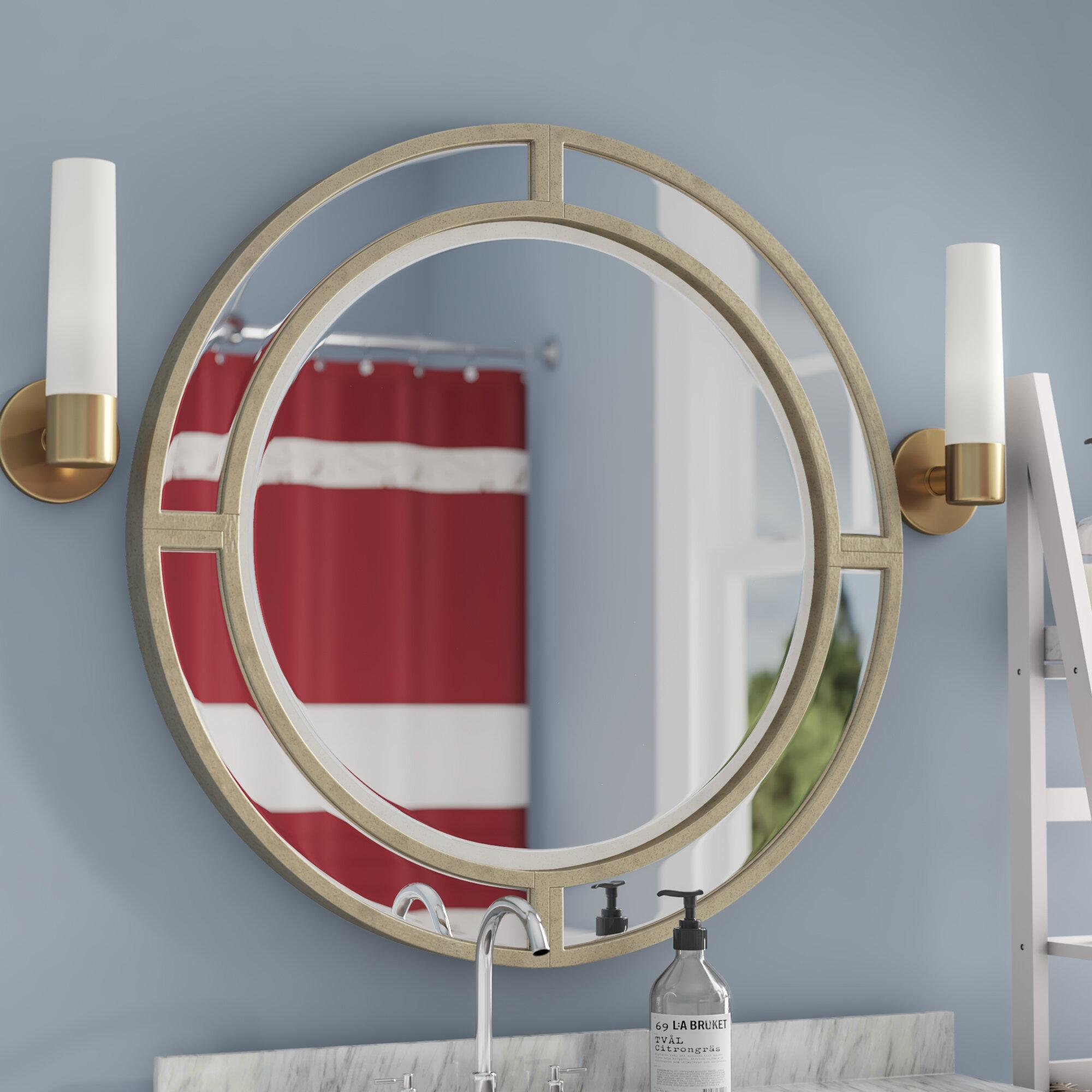 Willa Arlo Interiors Dhruv Round Glam Decorative Accent Wall Mirror Wayfair