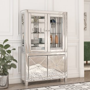 Adriana Lighted Curio Cabinet by Willa Arlo Interiors