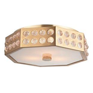 Willa Arlo Interiors Emeraude 3-Light Semi Flush Mount