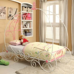 Klotz Metal Princess Car Bed by Harriet Bee