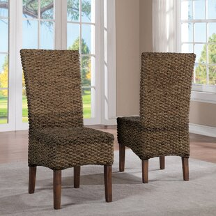 Augusto Woven Seagrass Side Chair (Set Of 2) by Birch Lane™ Heritage Coupon