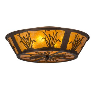 Meyda Tiffany Reeds and Cattails 4-Light Flush Mount