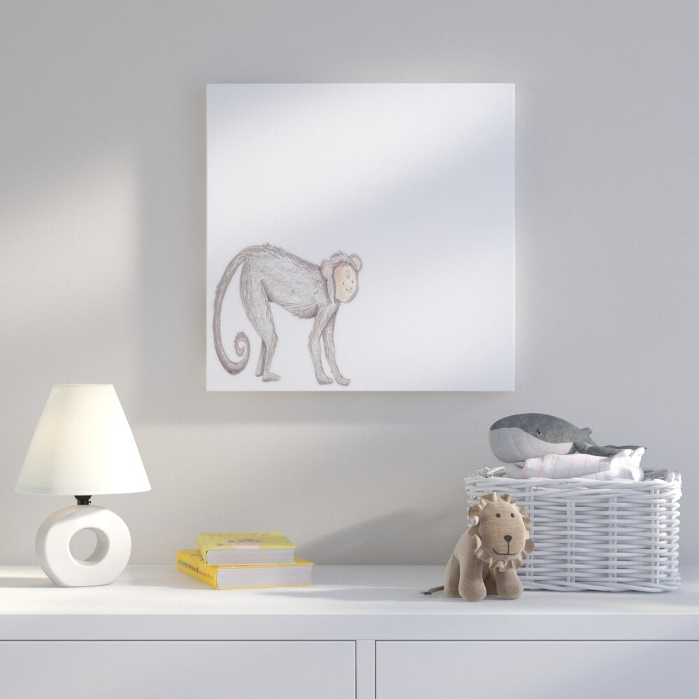 Harriet Bee  Montana Monkey  Drawing Print on Canvas  b7c559147238