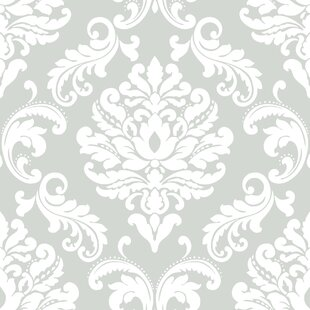 damask wallpaper you ll love wayfair