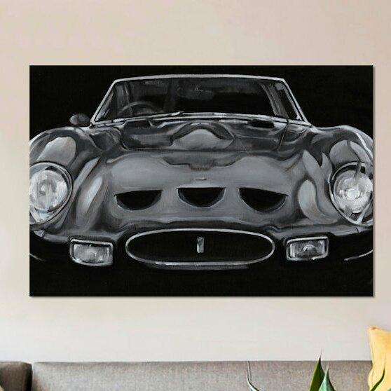 East Urban Home European Sports Car Ii Painting Print On Canvas Wayfair