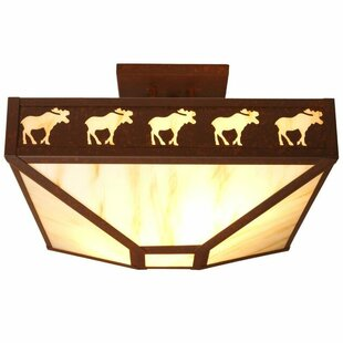 Band of Moose 4-Light Semi Flush Mount by Steel Partners