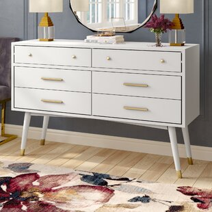 Mathilda 6 Drawer Double Dresser By Everly Quinn