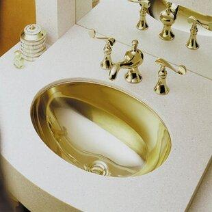 Best Reviews Rhythm Metal Oval Undermount Bathroom Sink ByKohler