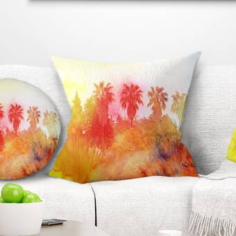 House Of Hampton Neal Embroidered Reversible 100 Cotton Throw Pillow Reviews Wayfair