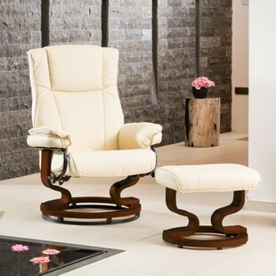Hightower Manual Swivel Recliner With Footstool By George Oliver