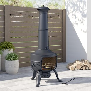 Tia Bundle Steel Chiminea By Gardeco