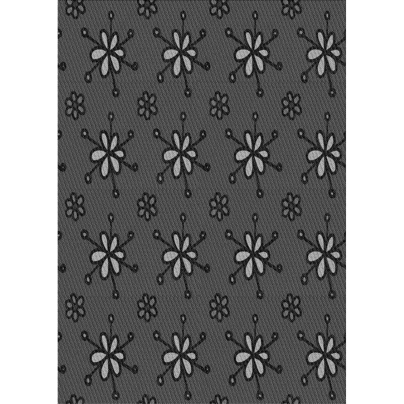 East Urban Home Faucett Floral Wool Gray Area Rug Wayfair