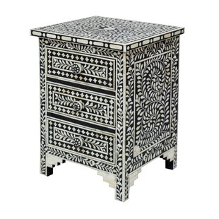 Bungalow Rose Gurule 3 Drawers Nightstand