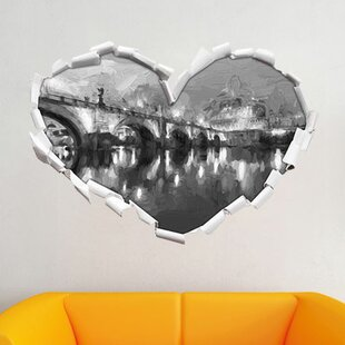 Night View Of St. Angelo Bridge Wall Sticker By East Urban Home