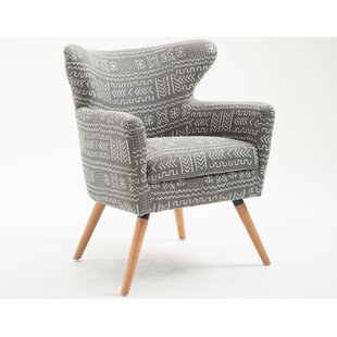 Clariandra Wingback Chair by Bungalow Rose