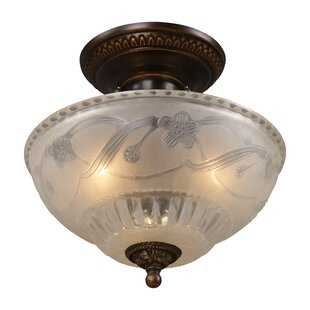 Clearance Antioch 11 3-Light Semi Flush Mount By Fleur De Lis Living