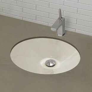 DECOLAV Mayah Classically Redefined Ceramic Oval Undermount Bathroom Sink with Overflow