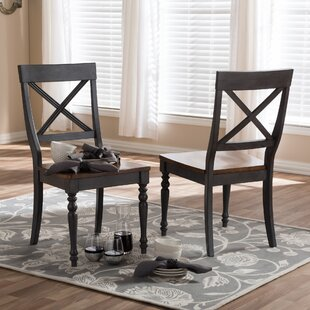 Baxton Studio Pia Solid Wood Dining Chair (Set of 2) Wholesale Interiors