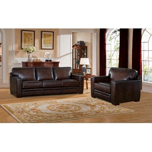 Best Mcdonald Leather 2 Piece Living Room Set by World Menagerie Reviews (2019) & Buyer's Guide