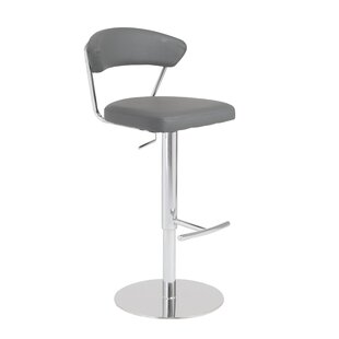 Viviana Adjustable Height Bar Stool by Wade Logan No Copount