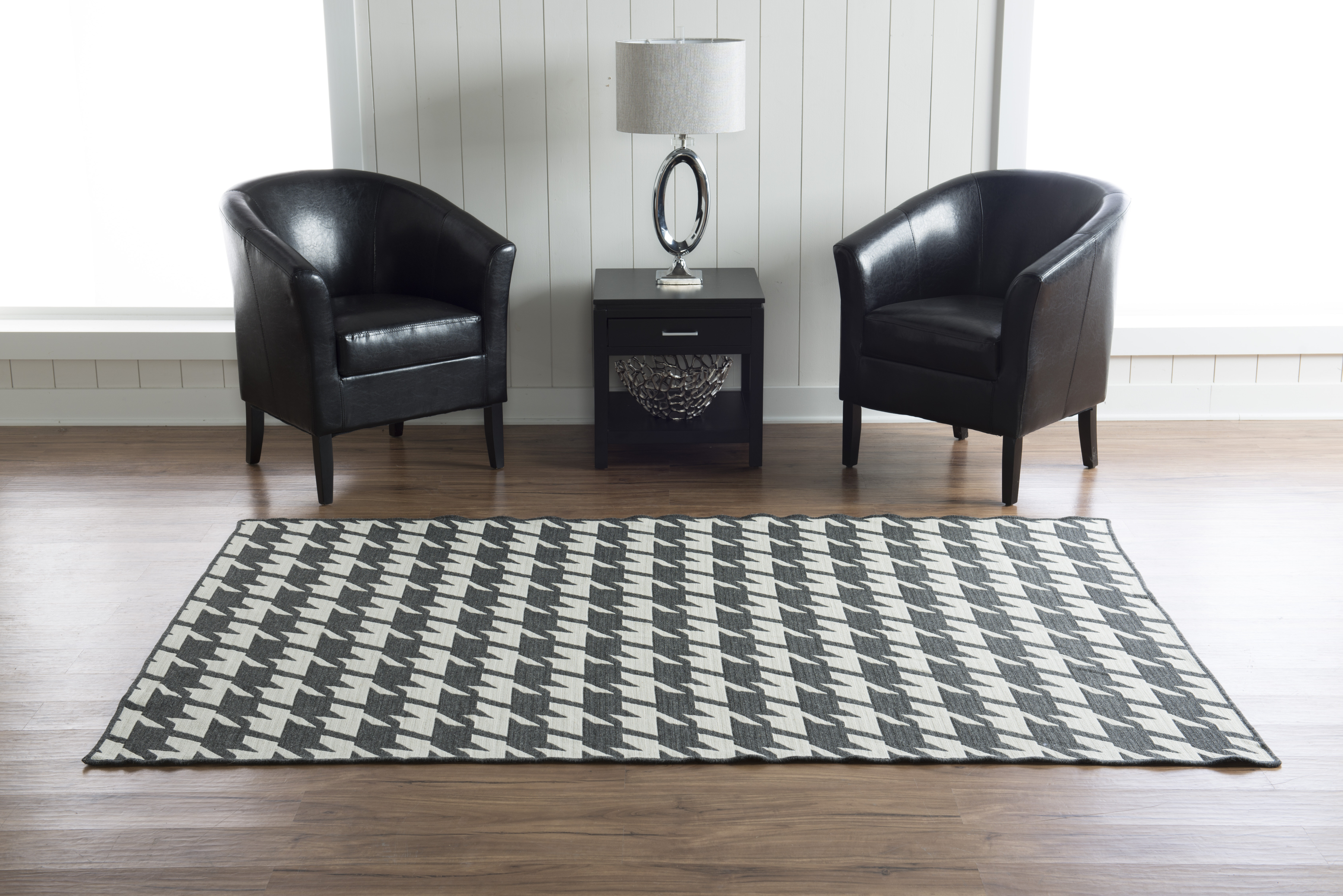 Corrigan Studio Destinee Geometric Handmade Tufted 5 X 8 Wool Black Beige Area Rug Wayfair