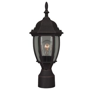 Oakhill 1 Light Outdoor Post Lantern with Bowl Glass Panels By Charlton Home Outdoor Lighting