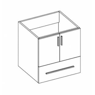 Daytona 23 Wall Mount Single Bathroom Vanity Base by Empire Industries