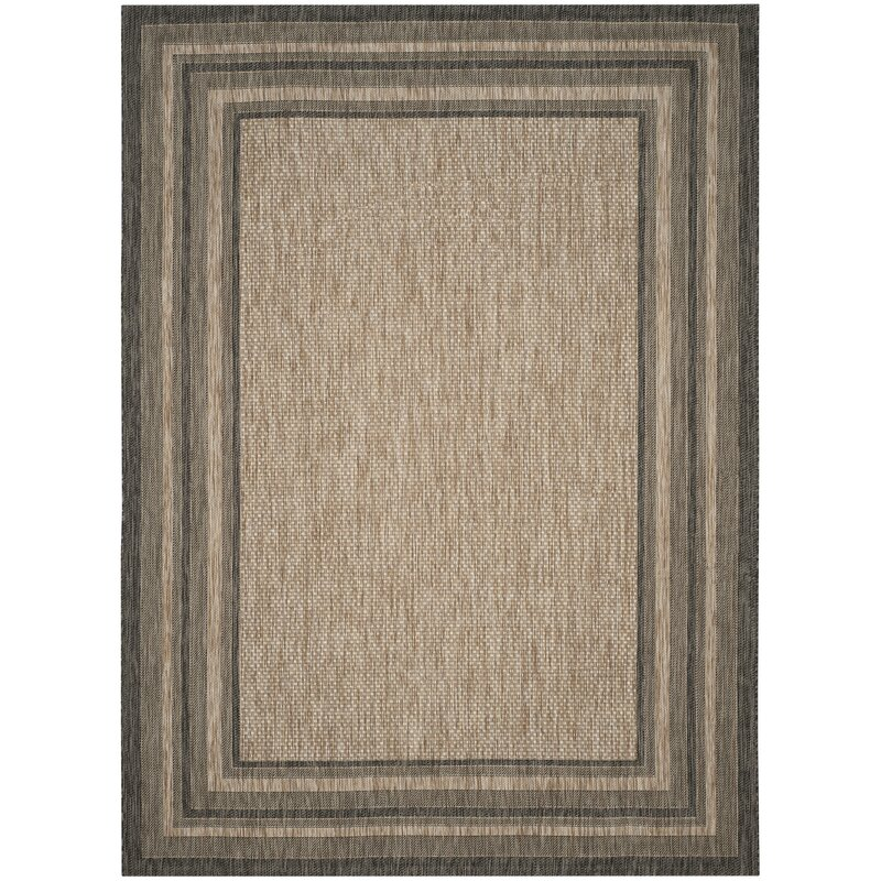 a3319e88ce4e Alcott Hill Rockbridge Natural/Black Indoor/Outdoor Area Rug & Reviews |  Wayfair