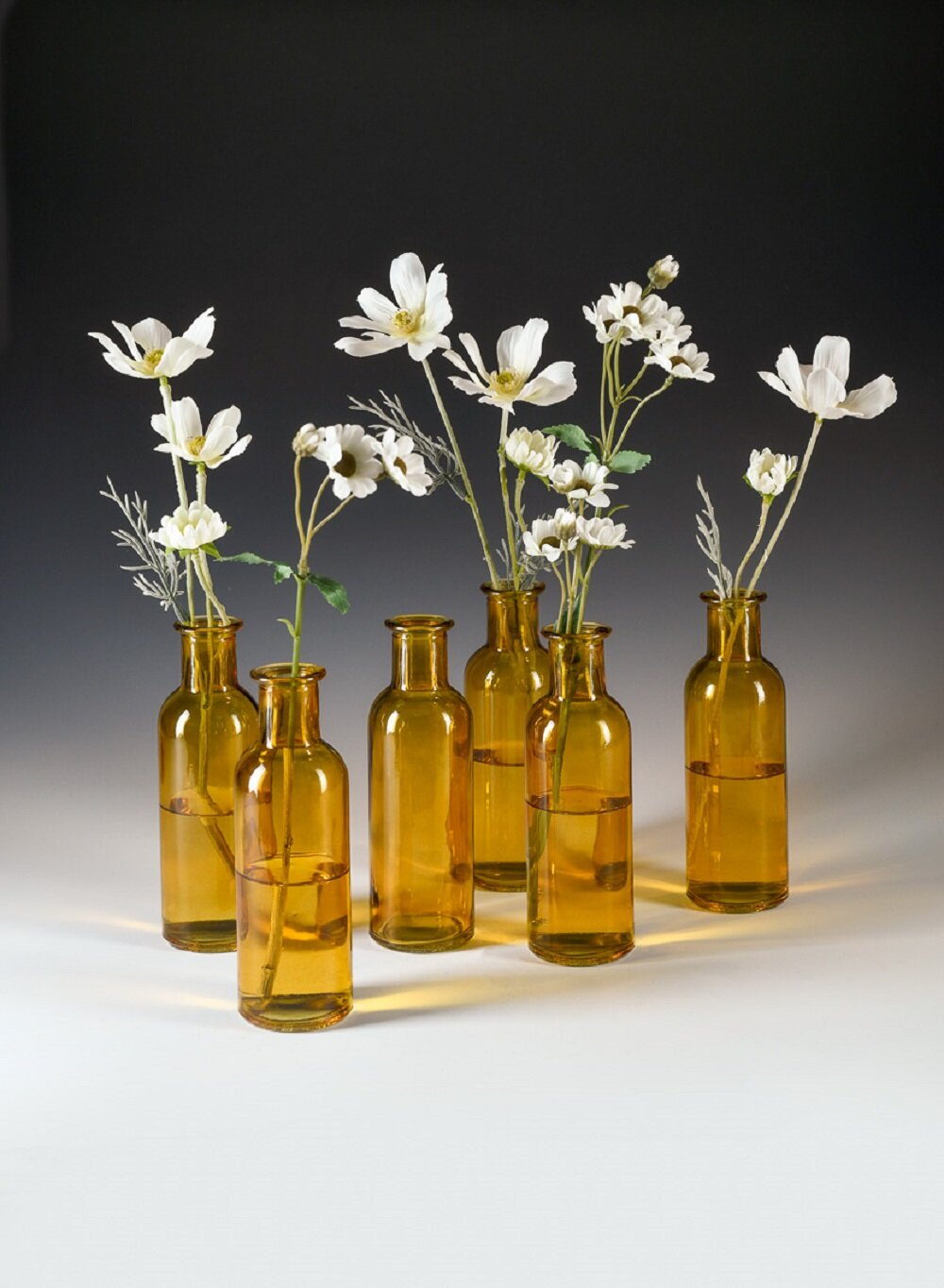 Rosalind Wheeler Bud Vases Apothecary Jars Decorative Glass Bottles Centerpiece For Wedding Reception Elegant Vintage Flower Vases Medicine Bottles For Home Decor Large Green Set Of 6 Wayfair Ca