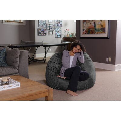 Majestic Home Goods Solid Classic Bean Bag Chair Reviews