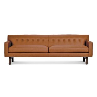 Coughlin Leather Sofa by Corrigan Studio