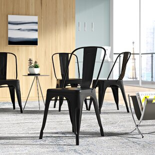 Matte Black Metal Dining Chair Wayfair