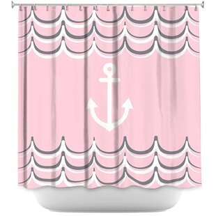 Anchor Waves Single Shower Curtain