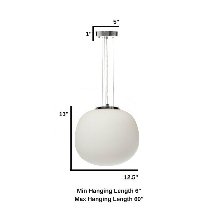 Colrain Opal Glass 1-Light Pendant