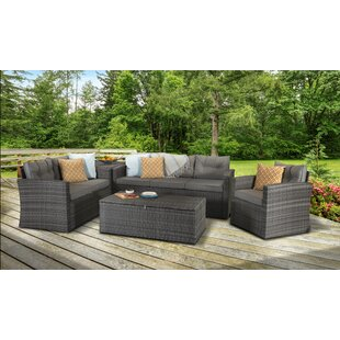 Helfrich 6 Seater Rattan Effect Sofa Set By Sol 72 Outdoor