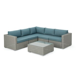Cabral 6 Piece Sectional Set with Cushions by Sol 72 Outdoor
