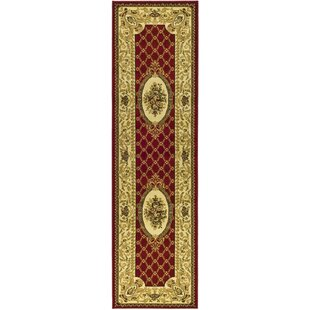 Taufner Power Loomed Red/Ivory Area Rug by Astoria Grand