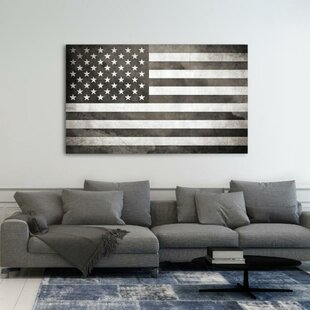 e7484a87af22  American Flag  Graphic Art Print on Canvas