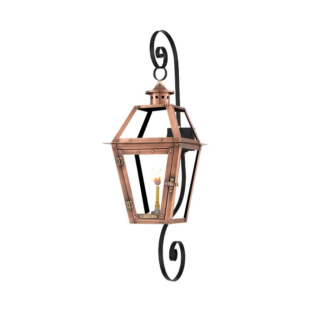 Primo Lanterns Orleans Aged Copper Outdoor Wall Lantern Wayfair