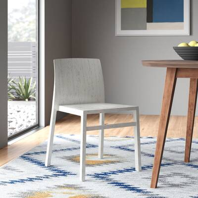 Outstanding Jager Solid Wood Dining Chair Allmodern Bralicious Painted Fabric Chair Ideas Braliciousco