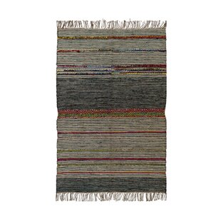 Grey/Red Area Rug by Ian Snow