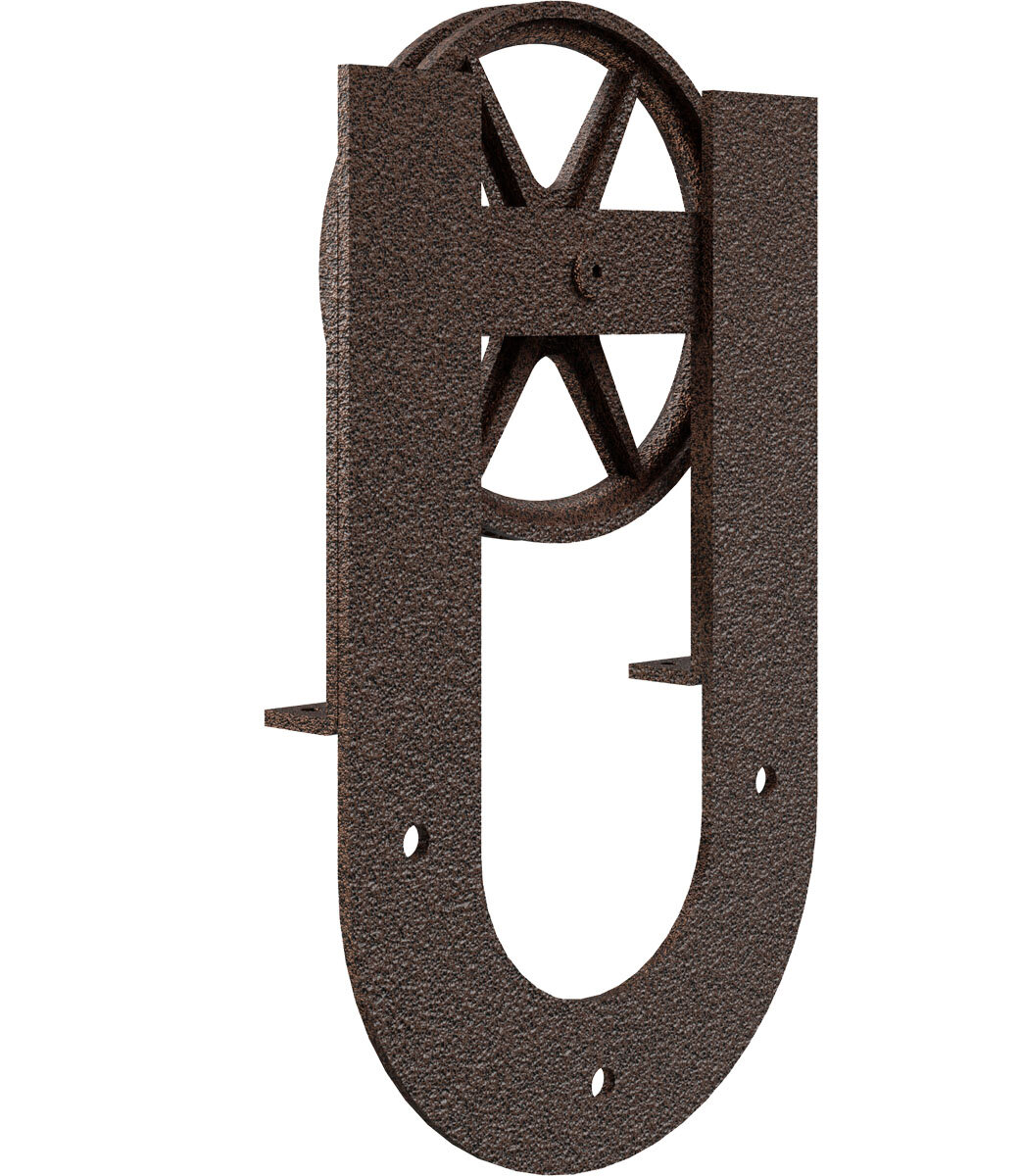Goldberg Brothers Inc Premium Wagon Wheel Horseshoe Roller Hanger Standard Single Barn Door Hardware Kit Wayfair