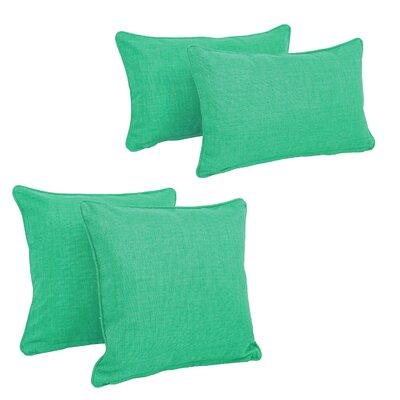 Three Posts Dunwich Indoor/Outdoor Throw Pillow Color: Emerald