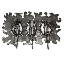 Stampede Horse Stampede Upcycled Metal Coat Rack by Novica
