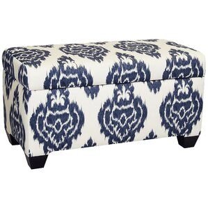 Diamon Upholstered Cotton Storage Ottoman