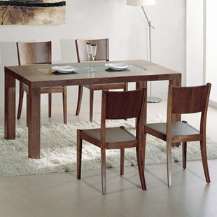5 Piece Solid Wood Dining Set Hokku Designs